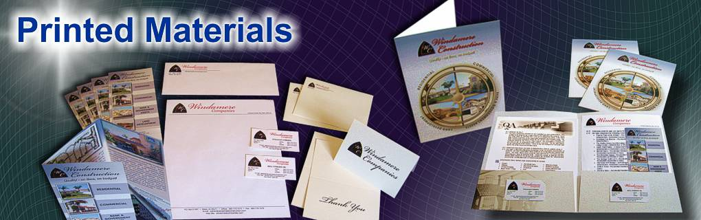 Brochures, Club Cards, Letterhead/Stationary, Business Cards, Presentation Folders, Flyers...