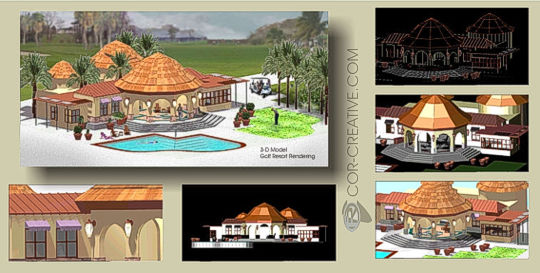 COR 3D Architectural Models example
