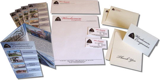 Graphics and layout for printed business materials - letterhead, business cards, brochures